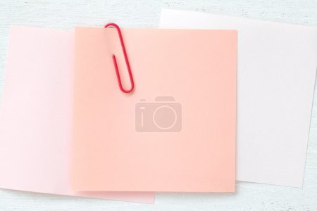 Blank pink note paper