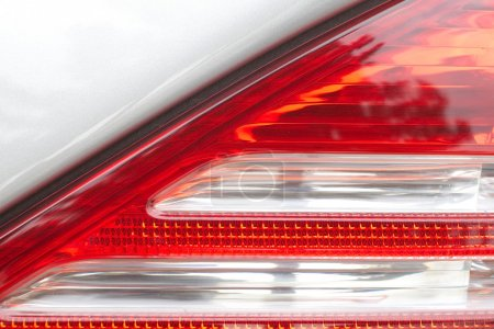 Detail at car tail lamp