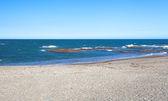 Sand beach and blue sky