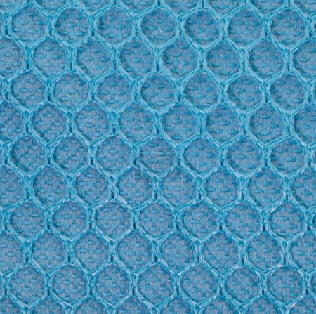 Close - up Blue PVC mesh