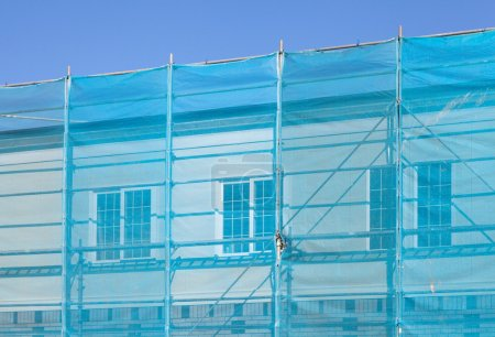 Blue plastic cover