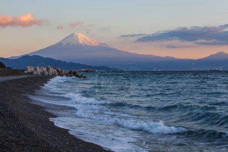 Mountain Fuji in winter