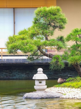 Japanese green garden