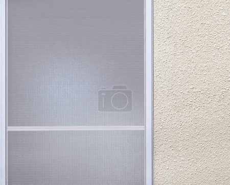 Photo pour Window frosted glass and white simple wall background - image libre de droit
