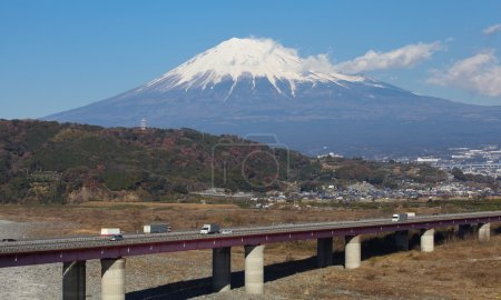 Mountain Fuji and expressway