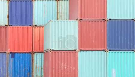 Colorful stack of containers