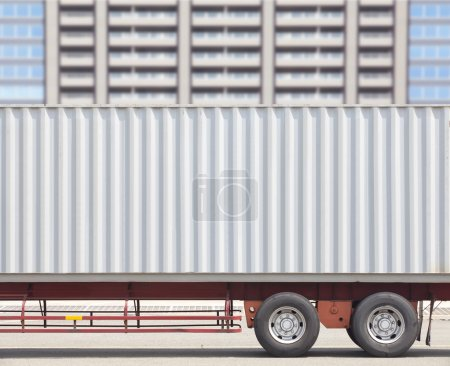 Container shipping truck