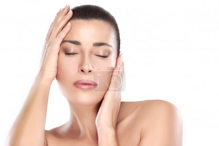 Beauty Face. Spa Woman. Skin Care Concept