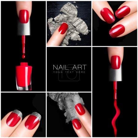 Nail Art Trend. Manicure set