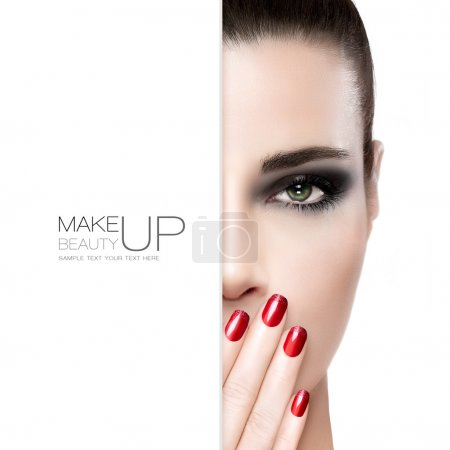 Beauty Nail Art and Makeup concept