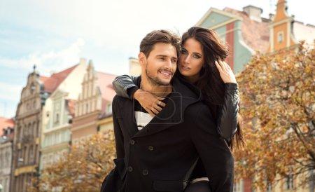 Autumn portrait of young couple