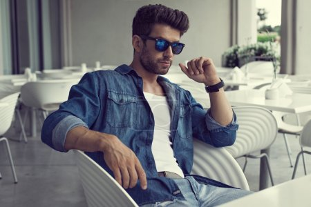 Photo for Sexy man in sunglasses - Royalty Free Image