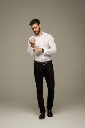 Handsome elegant man