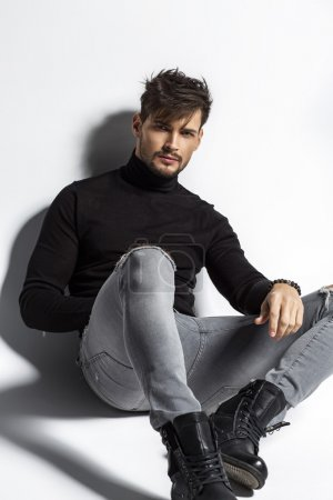 Handsome model posing