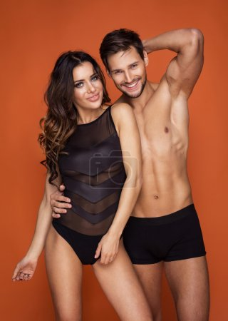 Portrait of sexy couple with perfect body