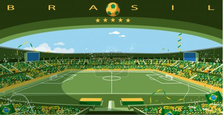 Brazilian soccer stadium