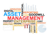 Asset management words cloud