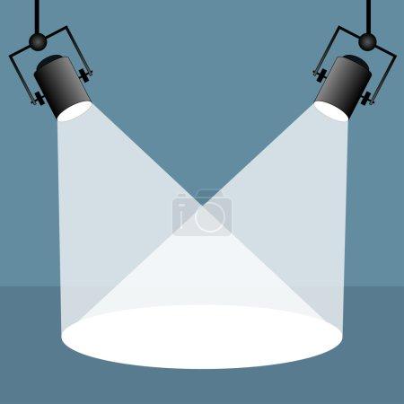 Spotlights flat style design