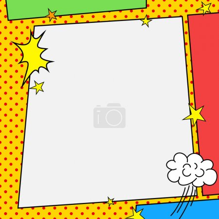 Illustration for Comic book style frame illustration design - Royalty Free Image
