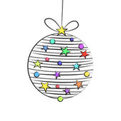 Náčrt styl Vánoční cetka