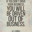 Poster quote. If you dont drive your business, you...