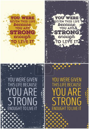 Set Of Vintage Typographic Poster. Motivational Quotes