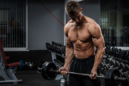 bodybuilder training arms