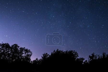 Photo for Photo of night sky, captured on long exposure - Royalty Free Image