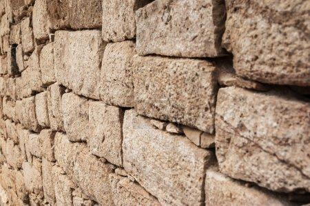 Photo pour Ruines anciennes en pierre sur fond - image libre de droit