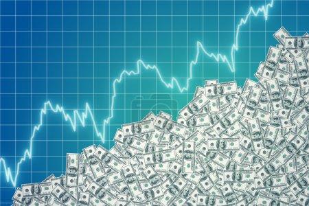 Graphic of rising dollar