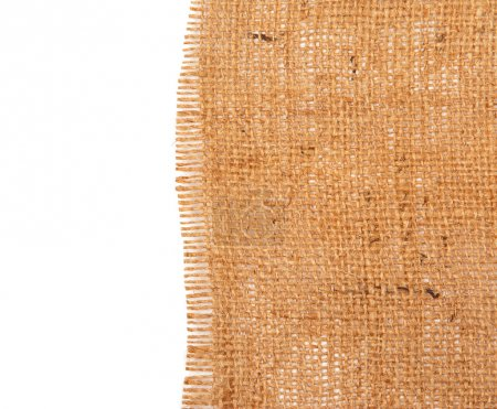 Photo for Sackcloth material on white background - Royalty Free Image