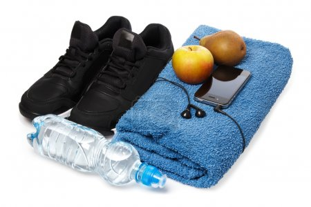 Different items for fitness workout