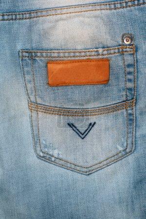 Closeup of jeans