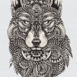 Highly detailed abstract wolf illustration Highly ...