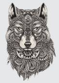 Highly detailed abstract wolf illustration Highly detailed abstract wolf illustration