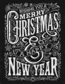 Vintage Christmas and New Year Chalkboard Typography Lockup Vintage Christmas and New Year Chalkboard Typography Lockup