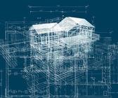 Budování struktury modrá