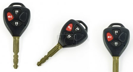 Photo for Remote car key isolated on white background - Royalty Free Image