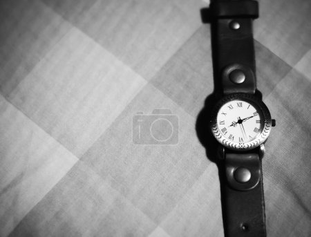 Classic Wristwatch black and white color tone style