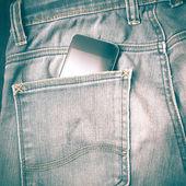 Chytrý telefon v jean pocket retro vintage stylu