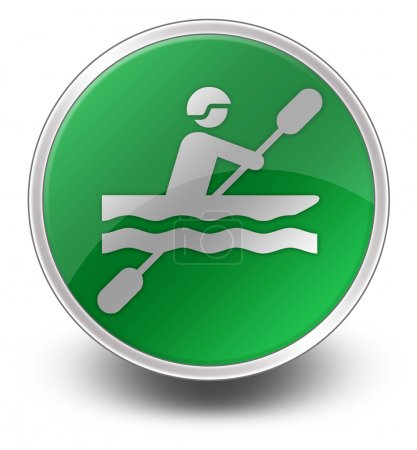 Icon, Button, Pictogram Kayaking