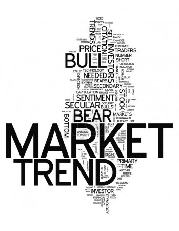Word Cloud with Market Trend related tags...