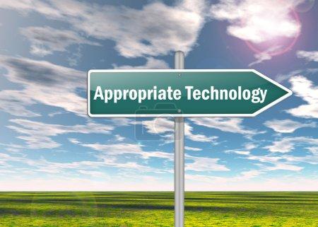 Photo pour Signalisation avec une formulation appropriée de la technologie - image libre de droit