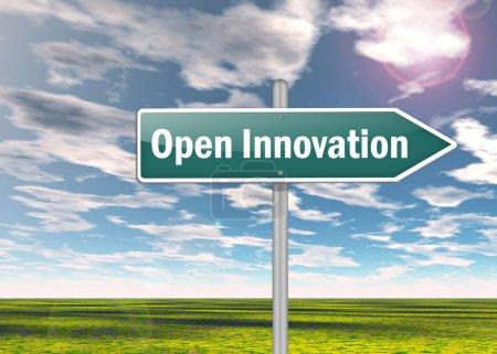 Photo pour Signalisation avec une formulation d'innovation ouverte - image libre de droit