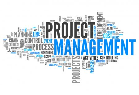 Photo for Word Cloud with Project Management related tags - Royalty Free Image