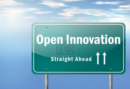 Highway Signpost with Open Innovation wording...