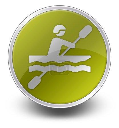 Icon, Button, Pictogram Kayaking