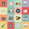 Set of classic icon, hipster gadget, vecter illust...