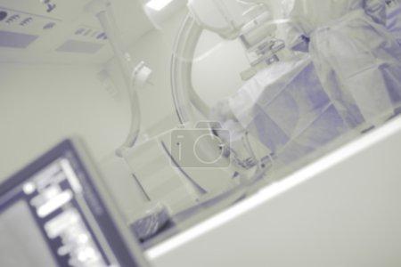 Cathlab operating room, unfocused background
