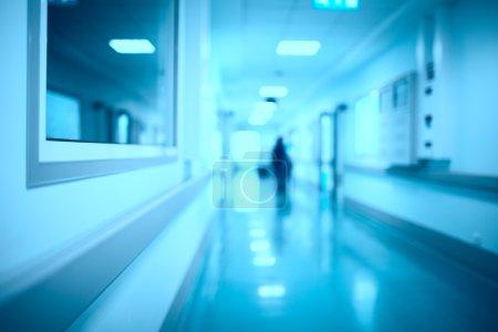 Photo for Blurred hospital corridor modern medical background - Royalty Free Image